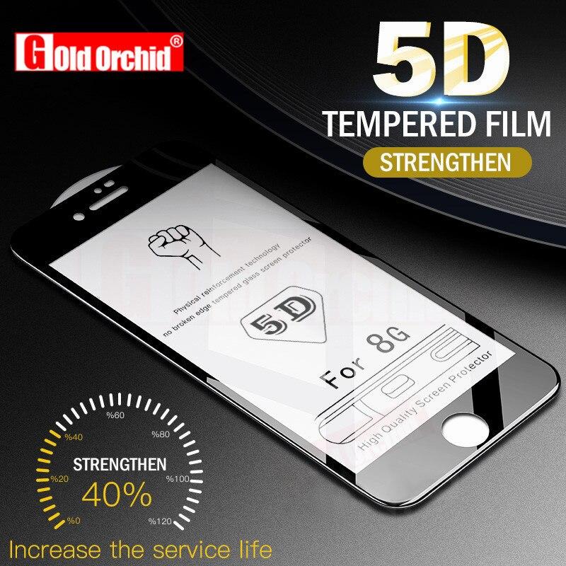 5D изогнутые полное покрытие закаленное Стекло для iphone 6 7 плюс Экран протектор Стекло на для iphone 7 8 Plus X защитная пленка