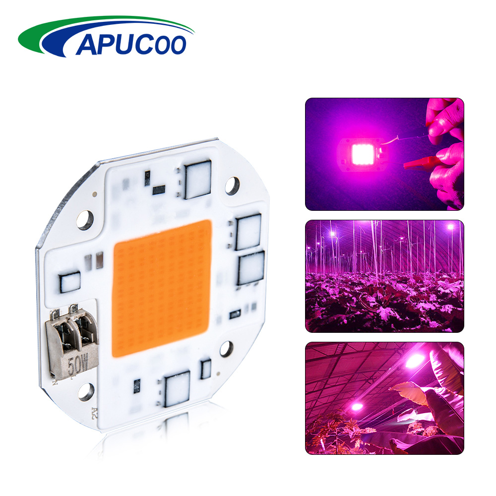 Led Grow Light Full Spectrum Cob Chip Ac220v 110v 20w 30w