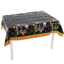 Omilut New Pumpkin Halloween Birthday Party Disposable Tablecloth Decor 2019 Tableware Set For Kids