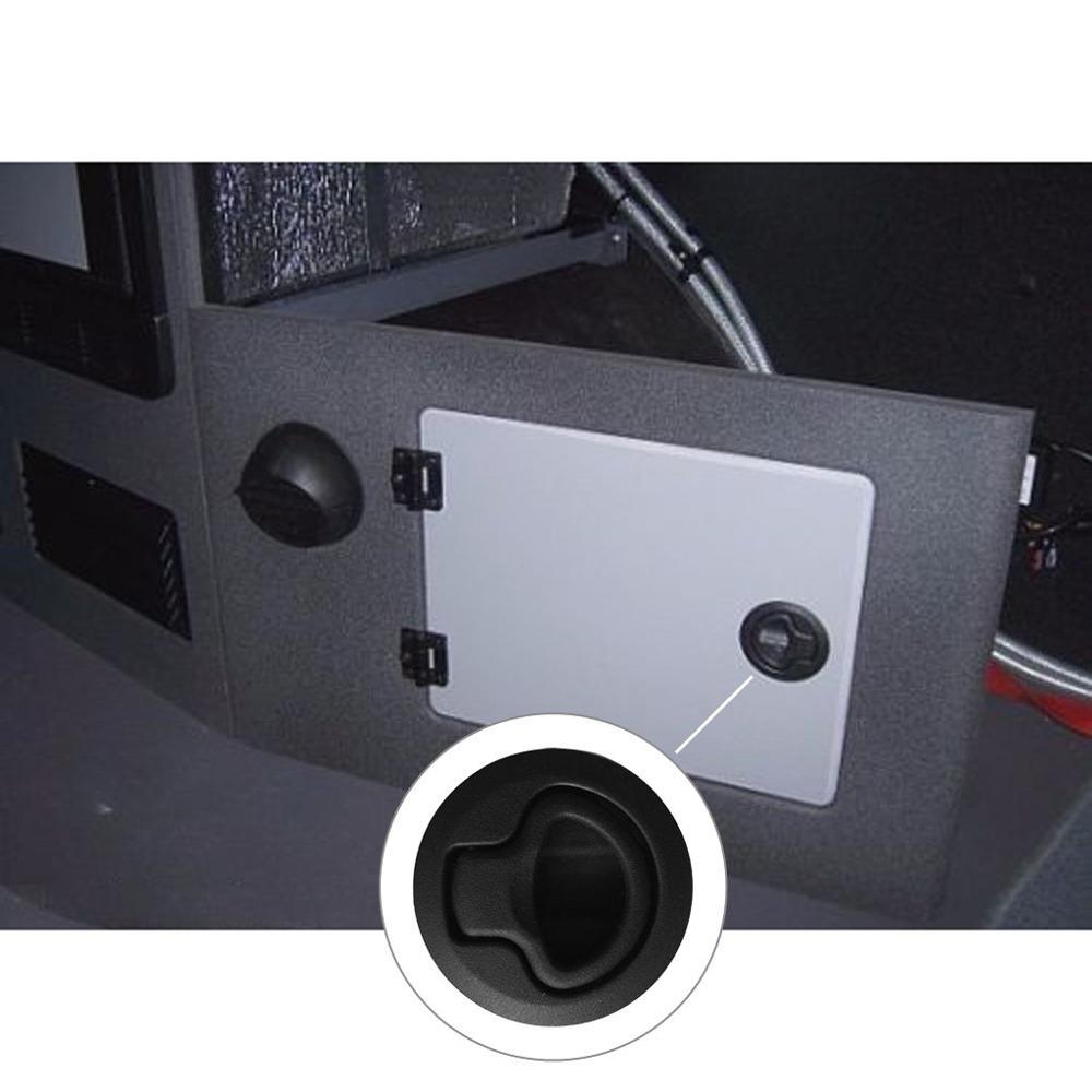 HCSSZP 4 Pcs 2 quot Flush Boat Marine Latch Black nylon NO Key Flush Pull Latches Slam lift handle Deck Hatch Marine Hardware in Hasps from Home Improvement