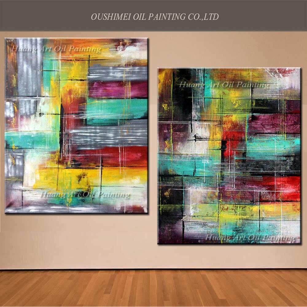 Evropa umělec ručně malované moderní abstraktní olejomalba nástěnná výzdoba krajinomalba na plátně pro dekorace obývacího pokoje
