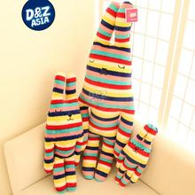 Five colors stripe rabbit plush toy bugs bunny stuffed plush rabbit