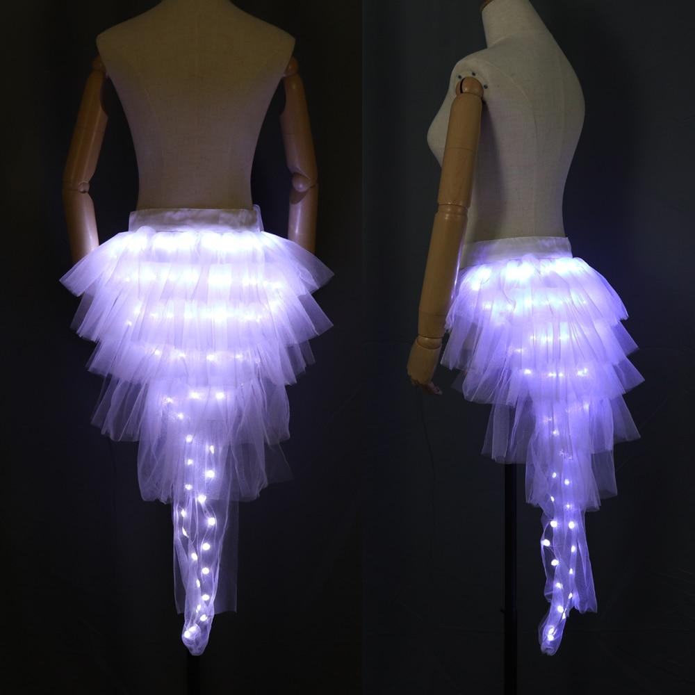 Fashion Dance LED Tutu Skirt Up Neon Fancy Rainbow Mini Tutu Fancy Costume Adult Light Skirt TFS Corset Tutu Skirt