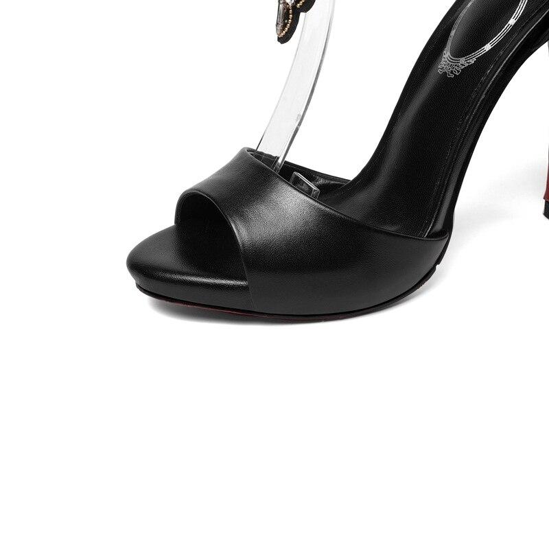 0e5098436d92 Cuir Filles Black Chaussures gold Fête De Sandales Talons Véritable Pompes  Sexy Bottines Tenue Mariage Strass ...