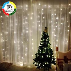 Coversage 3X3 м новогодние гирлянды светодиодный строка покупающий агент Фея Рождество вечерние Сад Свадебные декоративные шторы свет