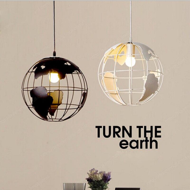[HQXING] Creative Arts Cafe Bar restaurant bedroom hallway lamp Scandinavian modern minimalist single-head earth pendant light все цены