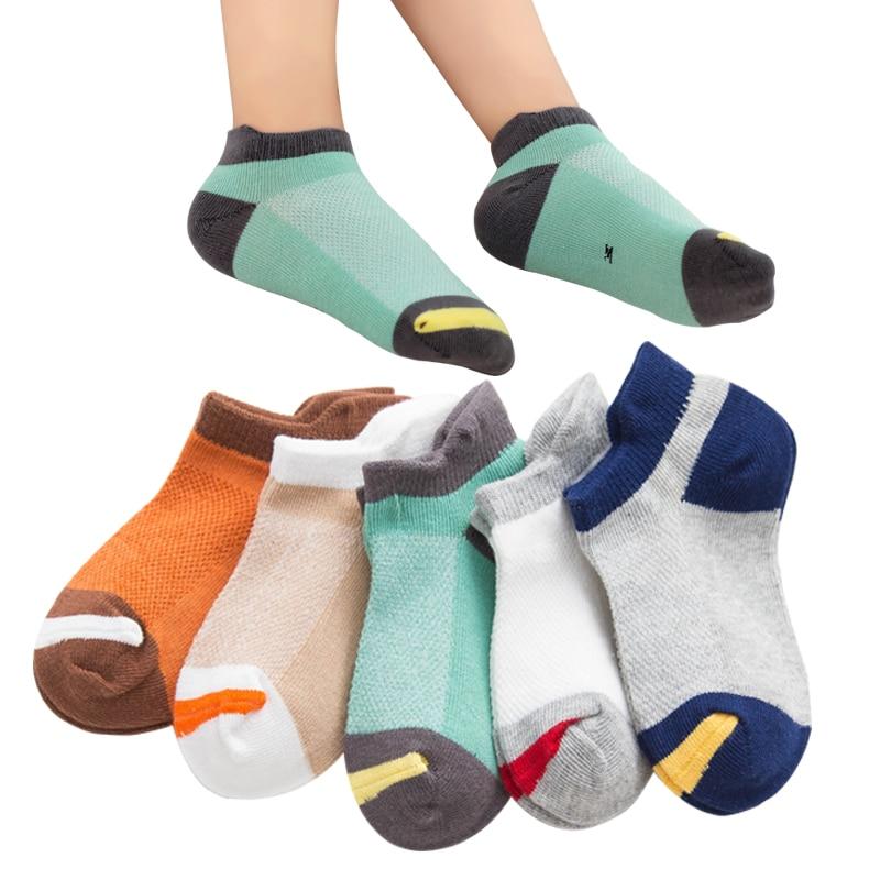 10 Stuks = 5 Paren/partij Kinderen Sokken Lente Zomer Mode Ademend Mesh Jongens Sokken Meisjes Sokken 1-12 Jaar Kids Sokken