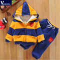 2017  sports suit jacket sweater coat & pants thicken kids clothes set Hot sell boys girls children winter wool sherpa