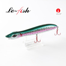 Le-Fish Snake Head 140mm/25g Fishing lure Floating Crankbait Sea Bass Pike Lure Pencil Bait Topwater Popper With VMC Hooks(China)