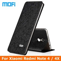 Redmi Note4 Case Original Mofi Brand Flip Leather Case For Xiaomi Redmi Note 4 Phone Case