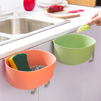 Useful   Kitchen   Cabinet   Storage   Rack with Hook Basket Holder for Cleaning Sponge/Brush Soap Garbage Save Space House Organizer