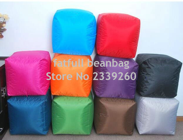 COVER ONLY NO FILLER Outdoor Waterproof Colorful Lovely Cute Square Fire  Resistant Bean Bag Chairs Floor Footstool Ottomans In Stools U0026 Ottomans  From ...