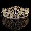 2016 новый золотой серебряные свадебные диадемы короны кристалл горного хрусталя конкурс красоты свадебные аксессуары головной убор повязка на голову свадьбы тиару