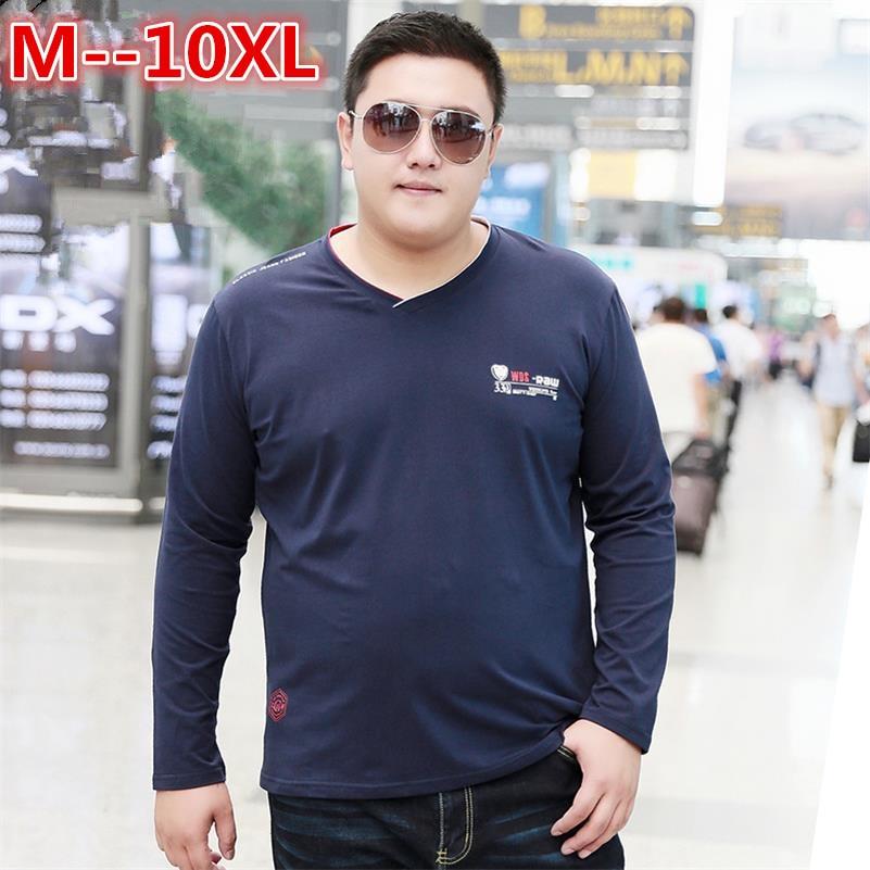 Manches shirt 6xl T Longues Slim À shirts 8xl 2018 Nouvelle cou Shirt Solide Marque Fit Hommes T 10xl Shirts 2 Casual T V 1 Coton Fashion pR6Bx5