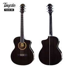 Tayste Guitar 40 inch Acoustic Guitarra 6 Strings Mahogany Top Quality Black Blue Wooden High gloss Stringed Instrument TS430-BK цена