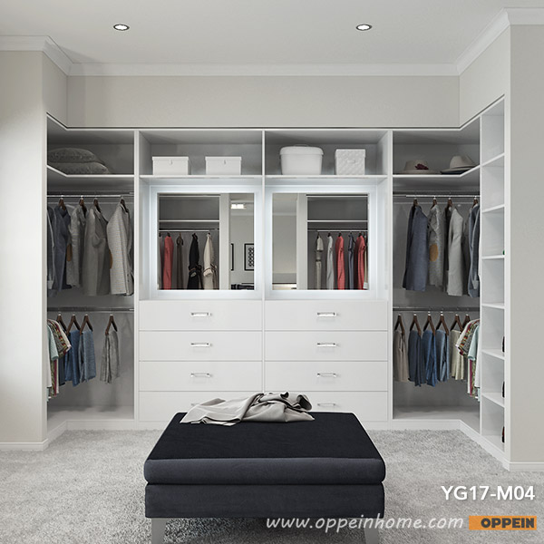 OPPEIN 2017 Modern White Melamine Walk In Closet Cloakroom (YG17 M04) In  Wardrobes From Furniture On Aliexpress.com | Alibaba Group