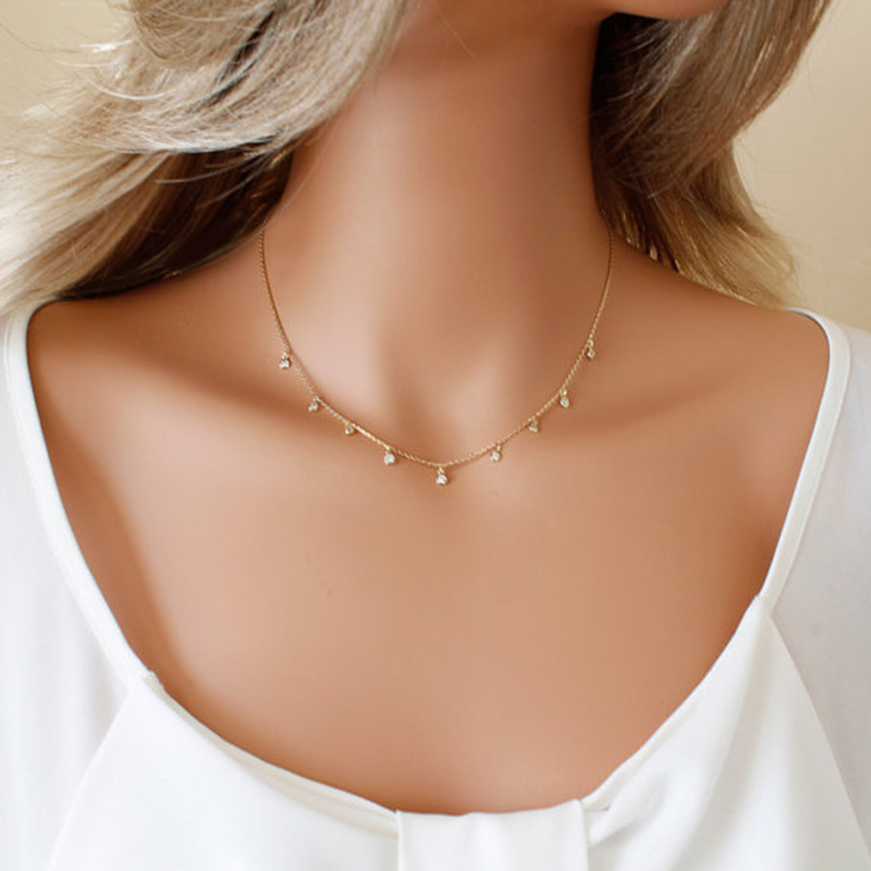 2017 new fashion jewelry circle short necklace fashion trendy handmade chain link choker necklace gift for women