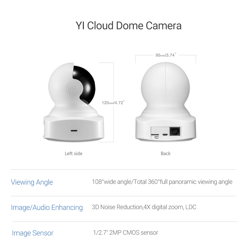 YI Cloud Home Camera 1080P HD Wireless IP Security Camera Pan/Tilt/Zoom Indoor Surveillance System Night Vision Motion Detection 13