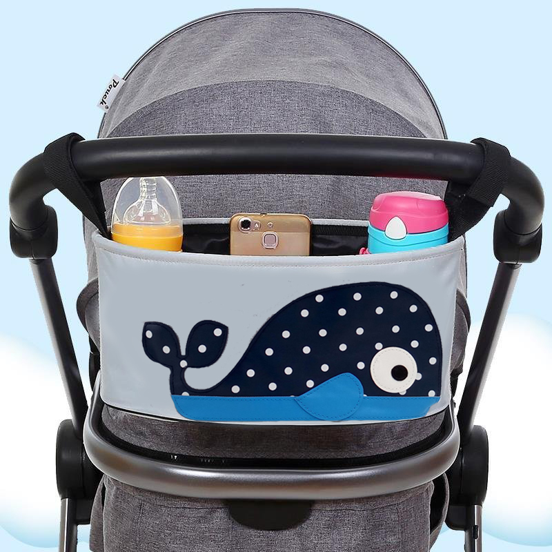 Baby Trolley Hanging Bag Pouch Bag Trolley Handrail Bag Large Capacity Multi-purpose Trolley Accessories Handrail Baby Carriages