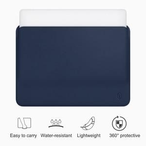 Image 1 - WiWU Laptop Sleeve für MacBook Air 13 Fall Wasser beständig PU Leder Laptop Fall für MacBook Pro 13 Ultra dünne für MacBook Pro