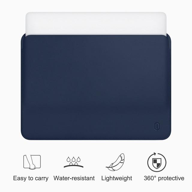 WiWU Laptop Sleeve für MacBook Air 13 Fall Wasser beständig PU Leder Laptop Fall für MacBook Pro 13 Ultra dünne für MacBook Pro
