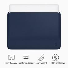 WiWU Laptop Sleeve for MacBook Air 13 Case Water resistant PU Leather Laptop Case for MacBook Pro 13 Ultra slim for MacBook Pro
