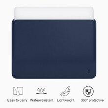 WiWU Laptop kol MacBook Air 13 için kılıf suya dayanıklı PU deri Laptop çantası MacBook Pro 13 için Ultra ince MacBook Pro için
