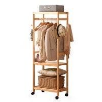 creative floor bedroom coat hanger simple modern racks wooden clothes rack