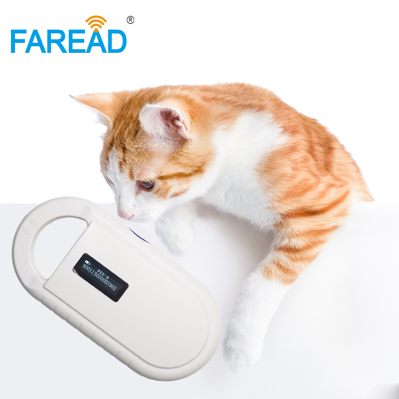 Free shipping practical sensitive Pet ID chip reader scan animal vet microchip reader for dog cat free shipping 10pcs aat11732 lcd chip
