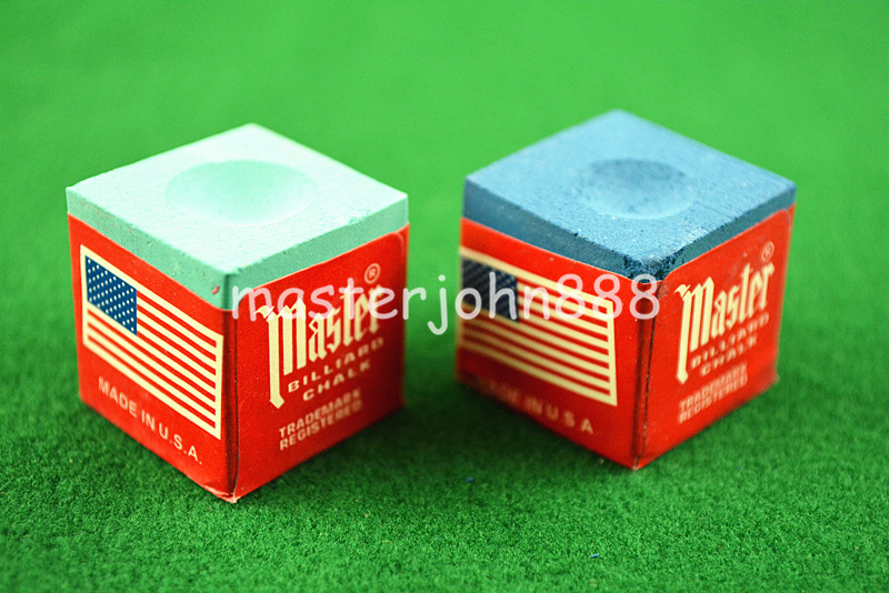 Sports & Entertainment ... Entertainment ... 32615244040 ... 5 ... 2pcs OF TRIANGLE MASTER Pool Billiards Snooker Chalk Cubes Chalk Green/Blue/Red Free Shipping ...