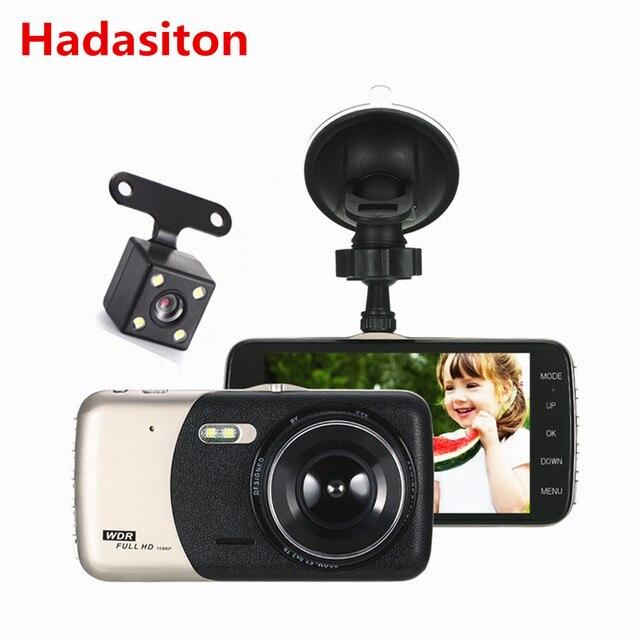 "4"" HD IPS screen 1080P Dual Lens Car DVR Dash Cam driving recorder Night Vision/G-sensor/Motion Detection/Loop Recording"