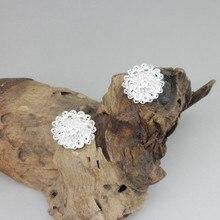 Flower 999 Sterling Silver Stud Earrings For Women 2019 Earring Small Studs Vintage Handmade Luxury Jewelry Ethnic Miao