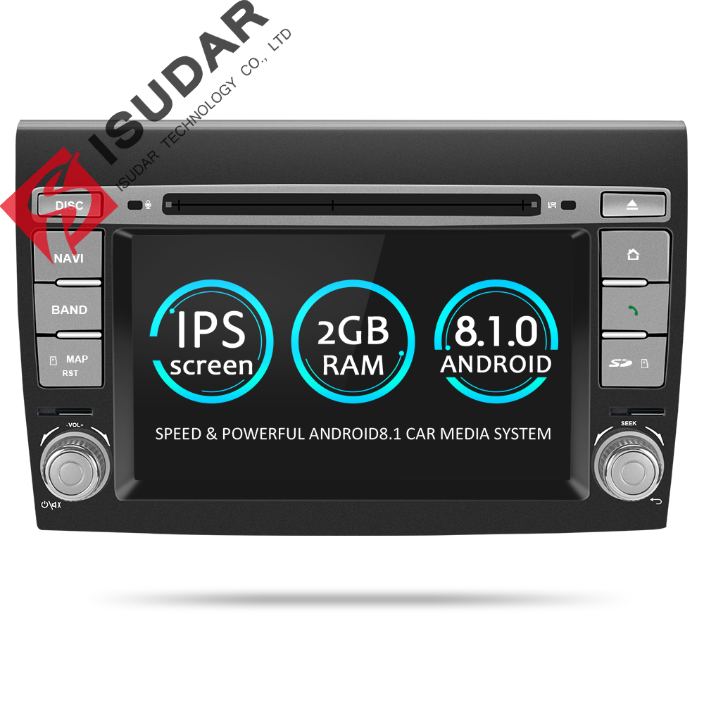 Isudar 2 Din Android 8.1 Car Multimedia player For Fiat/Bravo 2007 2008 2009 2010 2011 2012 DVD Automotivo GPS Radio 2 GB RAM isudar car multimedia player automotivo gps autoradio 2 din for skoda octavia fabia rapid yeti superb vw seat car dvd player