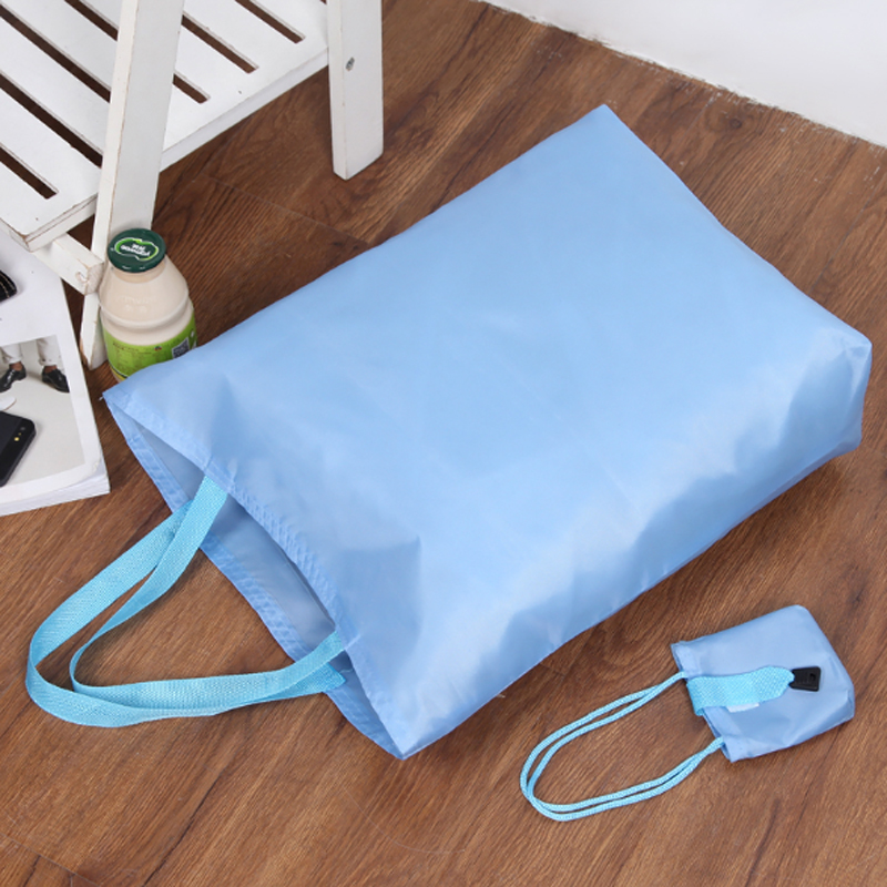 2018 New Foldable Handbags Portable Eco Friendly Shopping Bags Nylon Fabric Surpermarket Tote Bag Child's Handbags Good Gift