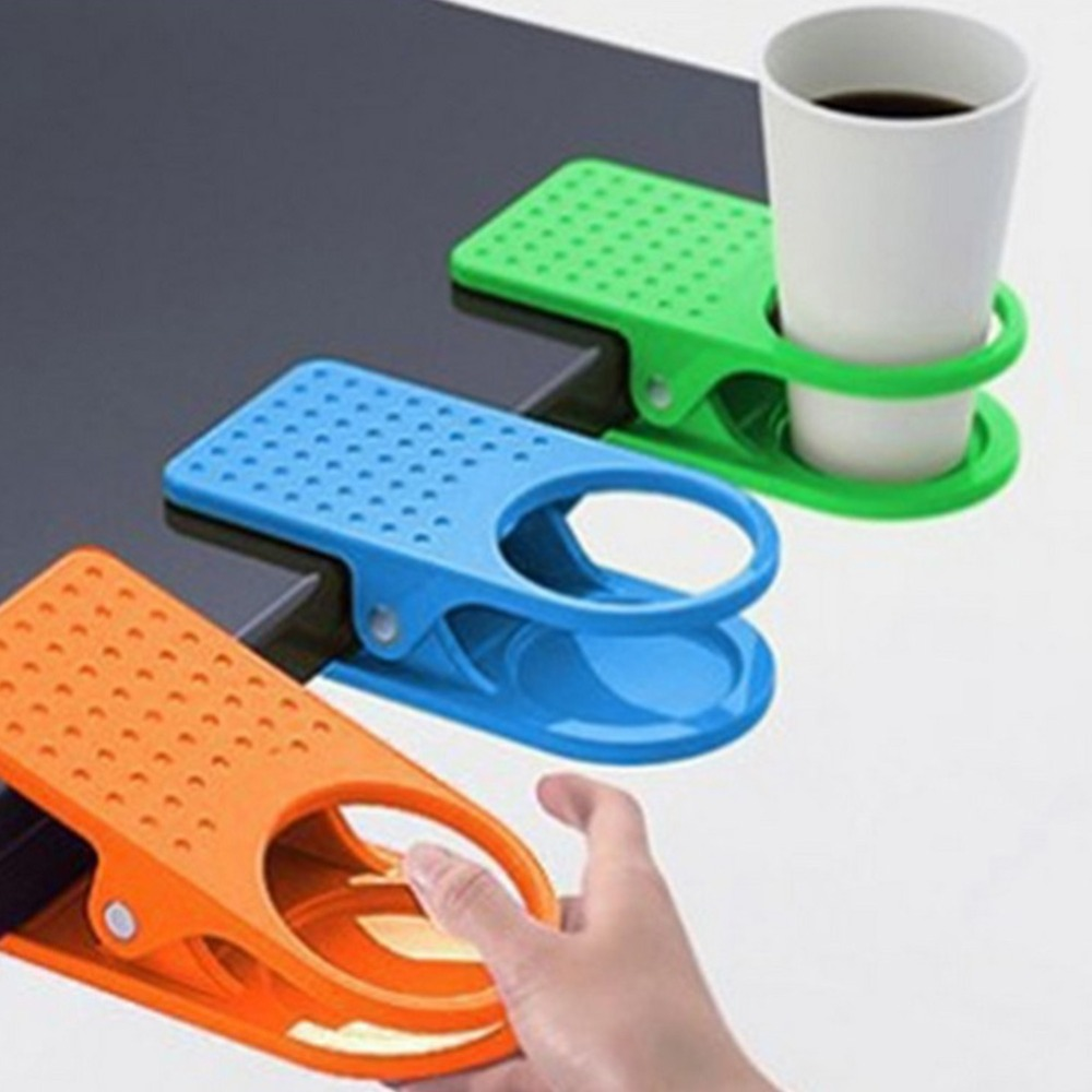 Hot Sales Drink Cup Coffee Holder Clip Home Office Desk Table Brand New & High Quality Free Shipping