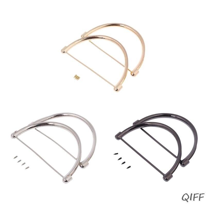 2pcs Women Metal Handle Replacement For Purse Beach Bag Handbag Small Shopping Tote
