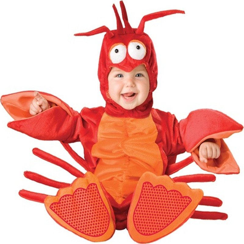Lobster Baby Halloween Autumn Christmas Romper Animals Clothes Kids Cosplay Costume Children Clothing Set