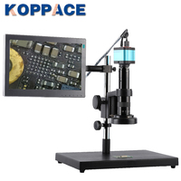 KOPPACE 15X 95X 14MP Full HD 1080P HDMI HD Output Industry Microscope Video Camera for Phone PCB Repair 11.6 inch display screen
