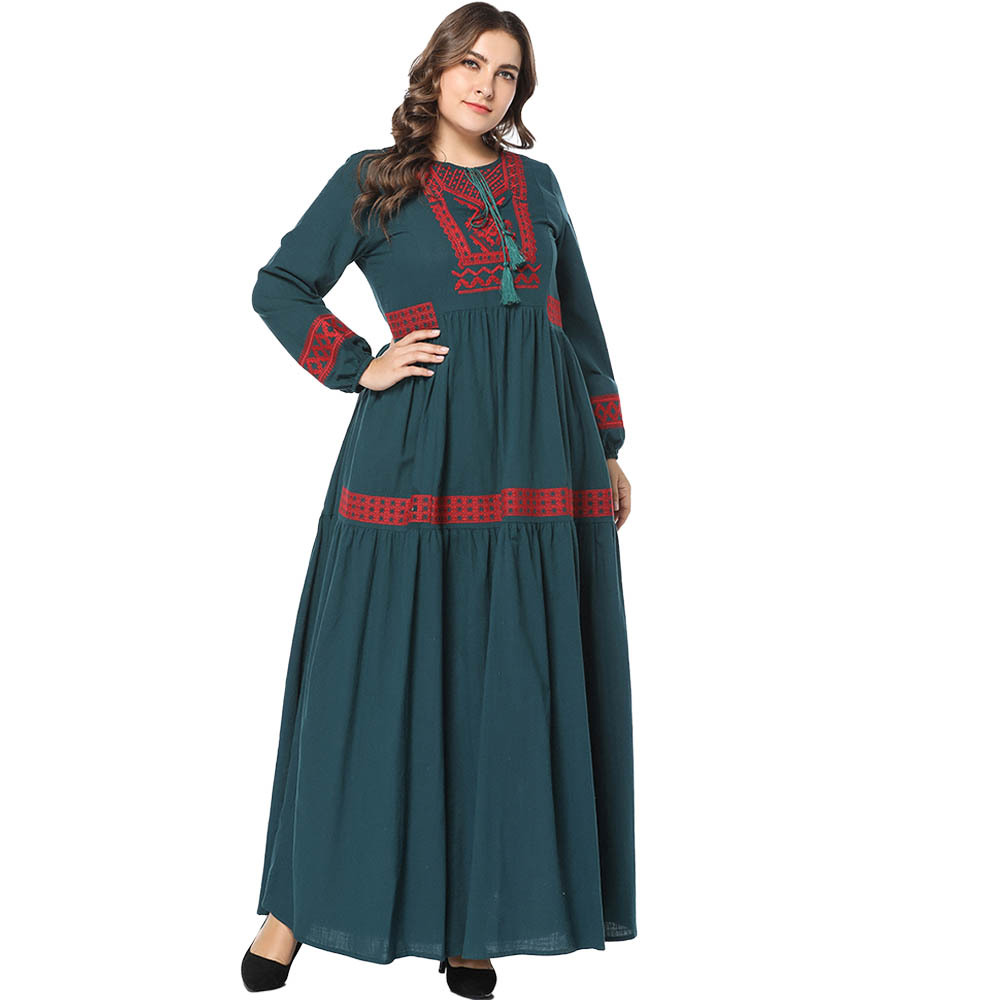Muslim Arabic Islamic Dubai Kaftan Abaya  Moroccan Kaftan Middle Eastern Morocco  Indonesia  Dress  Oversized Casual  Robe Dubai