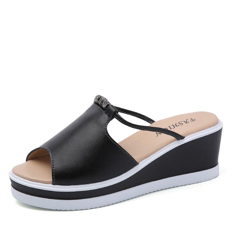 c1656b6104b0 Товар O16U Women Slipper Sandals Heels Wedges Platform Leather Peep ...