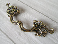3 3 Leaf Dresser Pull Drawer Pulls Handles Kitchen Cabinet Door Knobs Pull Handle Antique Bronze