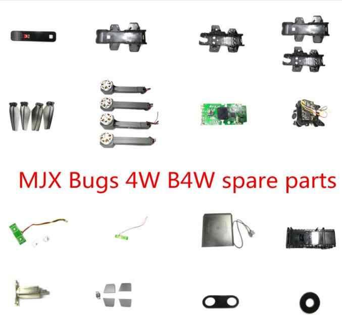 MJX B4W Bugs 4W GPS RC quadcopter drone piezas de repuesto carcasa del cuerpo hélices brazo del motor de la cuchilla GPS módulo receptor cargador de la Cámara etc
