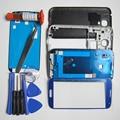 Телефон Запасные Части Для Samsung Galaxy S IV i9500 Полный Жилищно Передняя Рамка/Ближний рамка и Задняя крышка и Внешний Стекло и LOCA клей