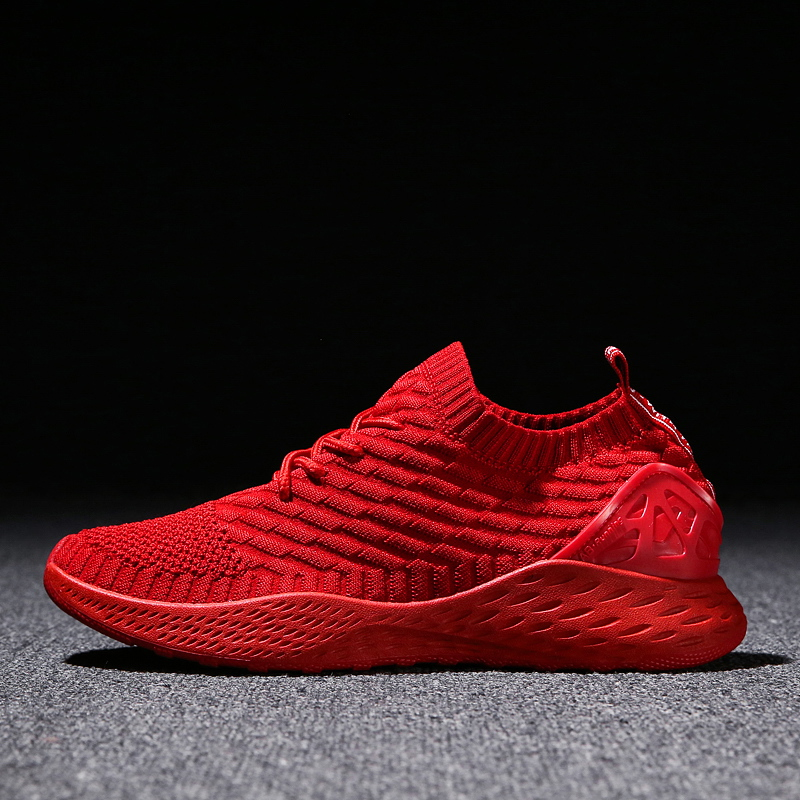 Breathable Men Sneakers Male <font><b>Shoes</b></font> Adult Red Black Gray High Quality Comfortable Non-slip Soft Mesh Men <font><b>Shoes</b></font> 2018 Summer New
