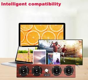 Image 5 - Kablosuz Bluetooth hoparlör 20W ahşap taşınabilir sütun Bluetooth bas Subwoofer Soundbar Handsfree bilgisayar hoparlör taşınabilir