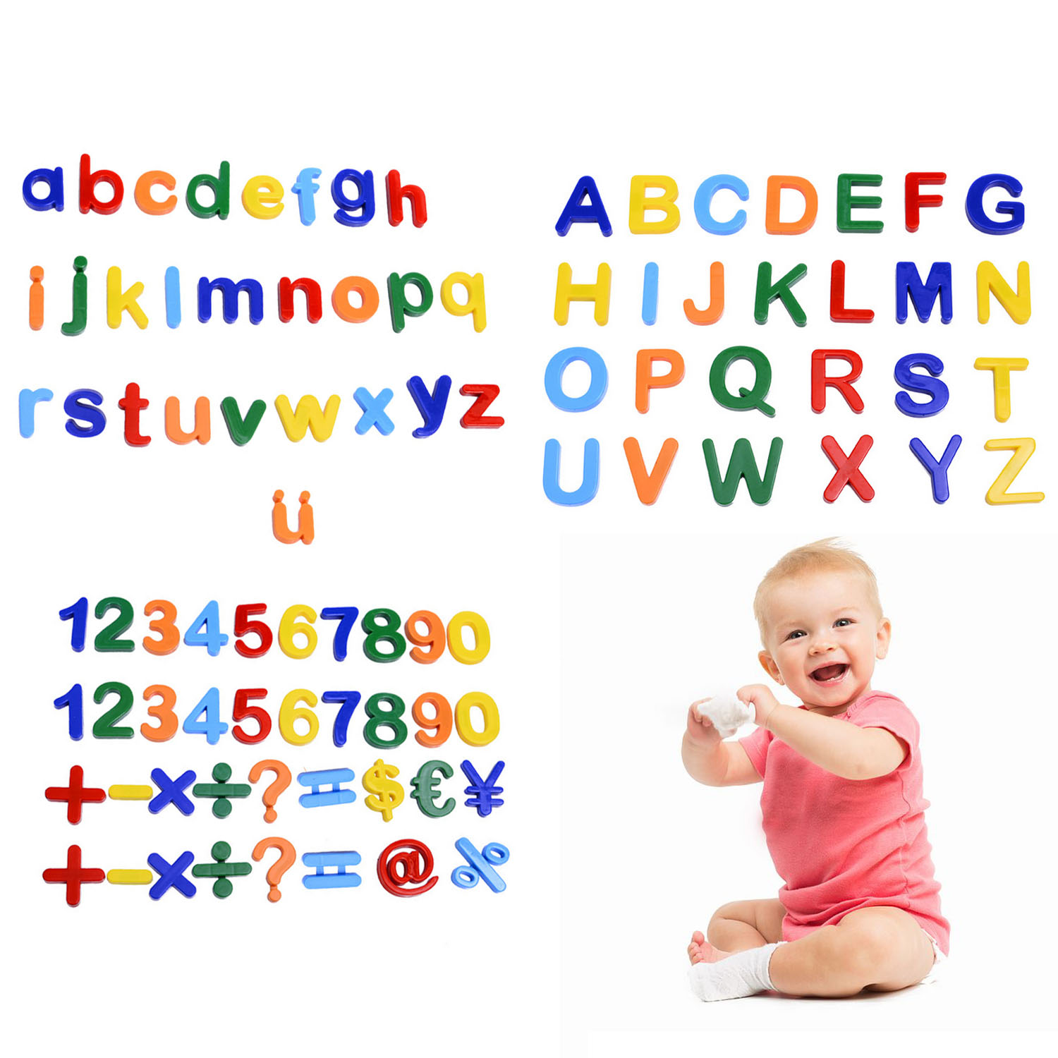 89pcs Magnetic Learning Numbers Alphabet Letters Toddlers Kids Preschool Learning Spelling Counting Educational Toys