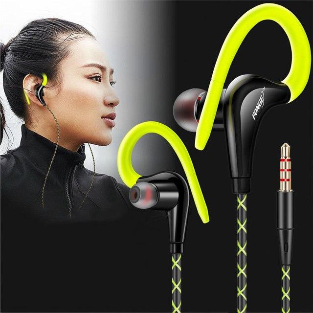 Słuchawki 3.5mm słuchawki sportowe Super Stereo słuchawki Sweatproof Running zestaw słuchawkowy z mikrofonem zaczep na ucho słuchawki do słuchawek Meizu