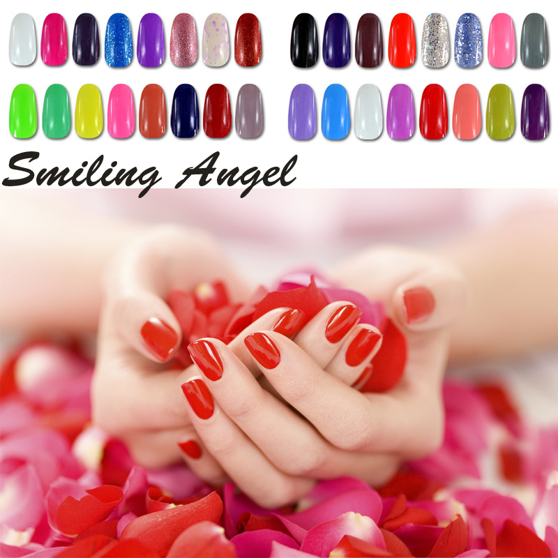 Smiling Angel Primer Bling UV Soak Off Gel Nail Polish DIY Nail Art Gel Varnish Long Lasting Led Top Base Coat Gel Polish N04