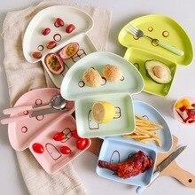 I bambini colorati della smalto ad alta temperatura hanno colorato le stoviglie dei bambini del piatto del fungo del sotto-piatto del bello di forma del fumetto delle stoviglie