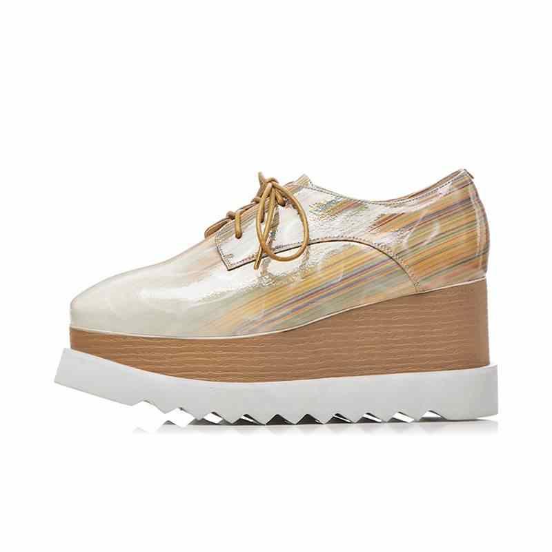 MoonMeek גדול גודל 33-42 2020 חדש אופנה באיכות PU משאבות נשים כיכר הבוהן טריזי תחרה עד אביב סתיו נעלי גבירותיי נעליים
